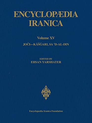 Encyclopaedia Iranica, Volume 15 Jo?i?K???ari, Sa?d-al-Din
