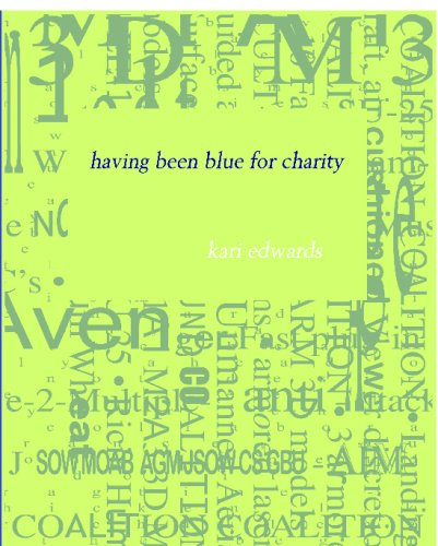 9781934289990: having been blue for charity