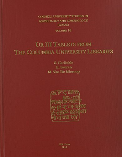 9781934309285: CUSAS 16: Ur III Tablets from the Columbia University Libraries