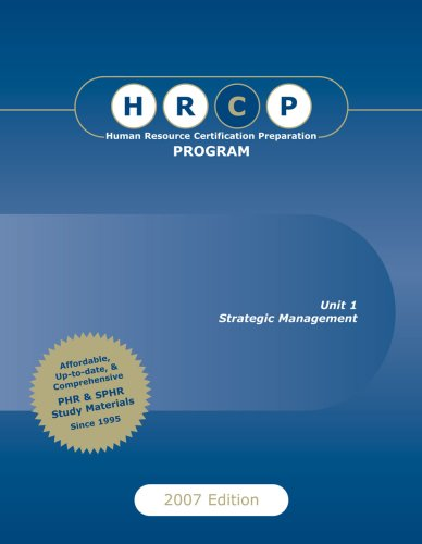 Human Resource Certification Preparation Program, 2007 Edition: David J. Cherrington/