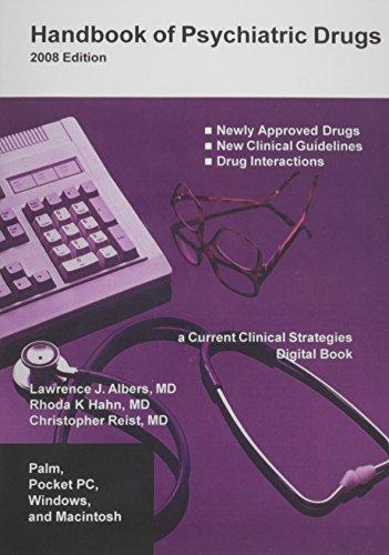 9781934323038: Handbook of Psychiatric Drugs CD-ROM, 2008 Edition (Current Clinical Strategies Digital Book)