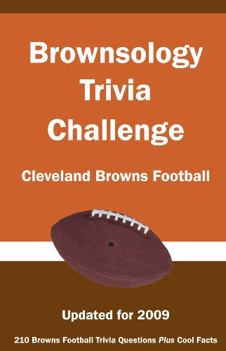 9781934372630: Brownsology Trivia Challenge: Cleveland Browns Football