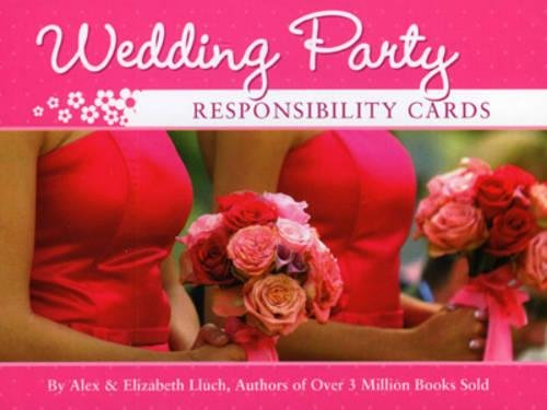 9781934386507: Wedding Party Responsibility Cards