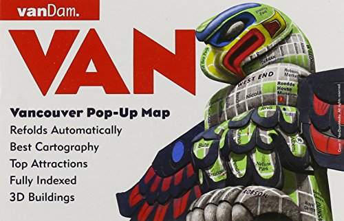 PopUp Vancouver Map By VanDam City Street Map Of - Laminated folding us map