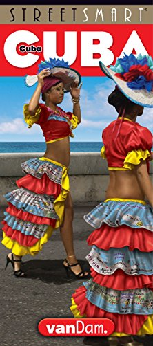 9781934395349: StreetSmart Cuba Map by VanDam - Map of Cuba - Laminated folding pocket size country travel guide with detailed city street maps (English and Spanish Edition), 2018 Edition