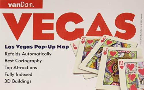 Popup Las Vegas Map By Vandam City Street Map - Laminated folding us map