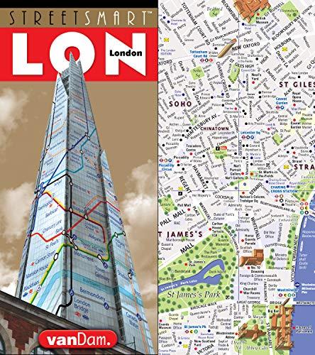 StreetSmart London Map By VanDam City Street Map - Laminated folding us map