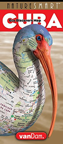 NatureSmart Cuba Map by VanDam -- Country Road & Eco Travel Map of Cuba mapping natural history, pre