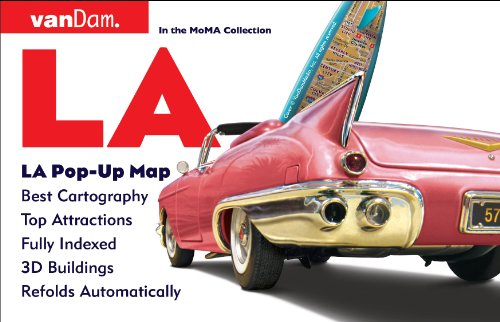 PopUp Los Angeles Map By VanDam City Street Map - Laminated folding us map
