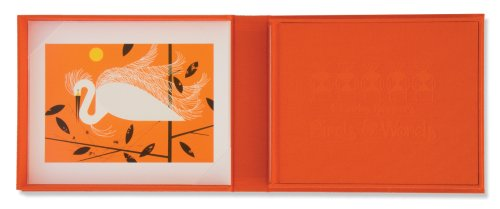 9781934429198: Birds & Words Orange With Snowy Egret Print