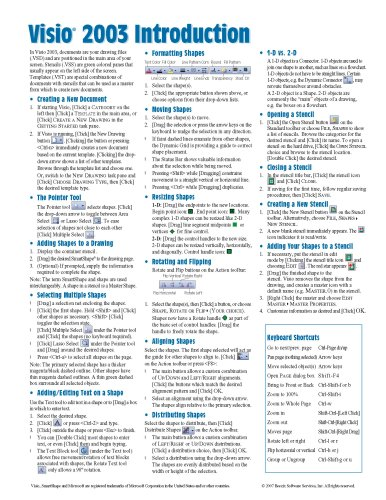 9781934433485: Microsoft Visio 2003 Quick Reference Guide (Cheat Sheet of Instructions, Tips & Shortcuts - Laminated Card)