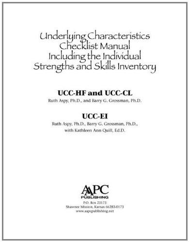 9781934575987: Underlying Characteristics Checklists (UCC) User Manual