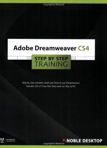 9781934624067: Adobe Dreamweaver CS4 Step by Step Training
