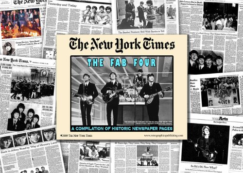 9781934653579: New York Times Historic Beatles Newspaper Compilation