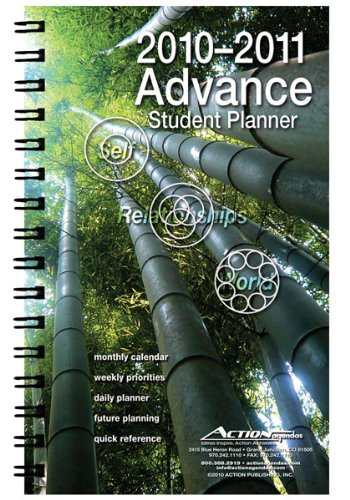 9781934687222: 2010/2011 Advance Student Agenda Day Planner