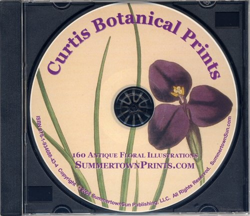9781934688434: Antique Botanical Prints on CD: 160 Printable Floral Illustrations