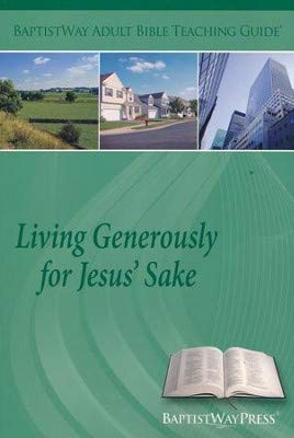 Living Gererously for Jesus' Sake (Large Print: Ronnie & Renate