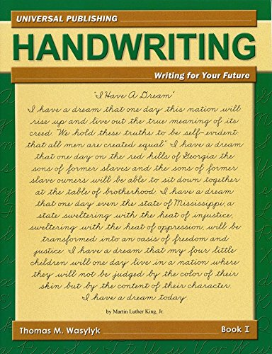 9781934732007: Handwriring: Writing for Your Future Book I