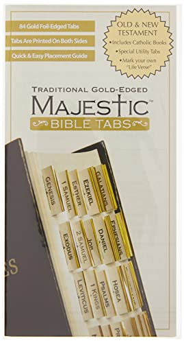 9781934770139: Majestic Traditional Gold-Edged Bible Tabs