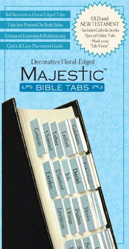 9781934770863: Majestic Bible Tabs, Mini Decorative Floral