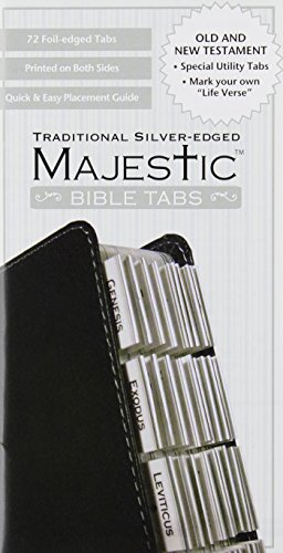 9781934770917: Majestic Traditional Silver-Edged Bible Tabs