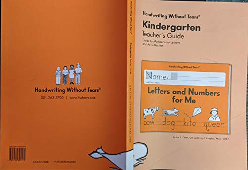 Letters and Numbers Kindergarten Teacher's Guide