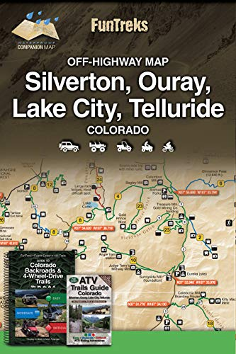 9781934838235: Off-Highway Map for Silverton, Ouray, Lake City, Telluride Colorado
