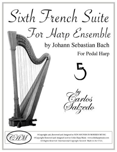 Sixth French Suite for Pedal Harp (Parts 1 and 2): Johann Sebastian Bach