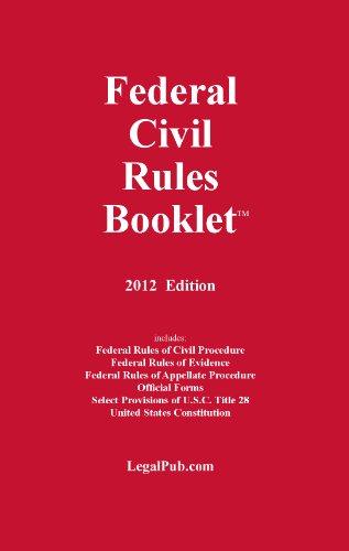 FEDERAL CIVIL RULES BOOKLET: LEGAL PUB.COM