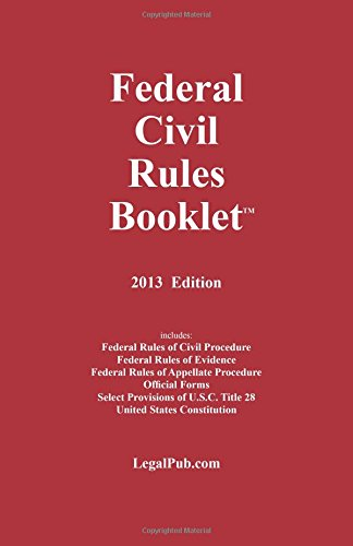 9781934852248: 2013 Federal Civil Rules Booklet (For Use With All Civil Procedure Casebooks)