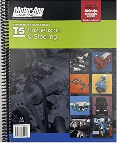 9781934855379: By Motor Age ASE T5 Test Preparation - Steering & Suspension Study Guide (Motor Age Training) [Paperback]