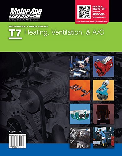 9781934855393: ASE Certification Study Guide -T7 Heating, Ventilation & A/C (Motor Age Training)