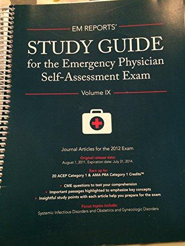 9781934863497: EM Report's Study Guide for the Emergency Physician Self-Assessment Exam LLSA 2012