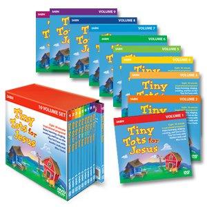 9781934869147: Tiny Tots for Jesus - DVD Set 10-Volume DVD Set (80 programs)