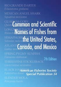 9781934874318: Common and Scientific Names of Fishes from the United States, Canada, and Mexico, 7th edition
