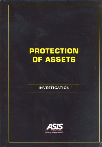 9781934904138: Protection of Assets: Investigation