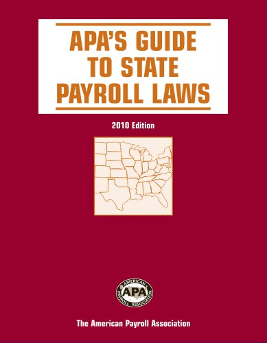 9781934951309: APA's Guide to State Payroll Laws