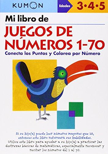 9781934968338: Mi Libro de Juegos de Numeros 1-70 / Number Games 1-70: Conecta Los Puntos Y Colorea Por Numero: Edades 3-4-5