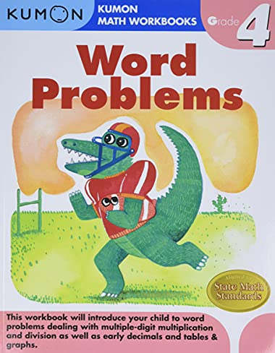 word problems grade 4 kumon math workbooks by kumon publishing kumon publishing north america. Black Bedroom Furniture Sets. Home Design Ideas