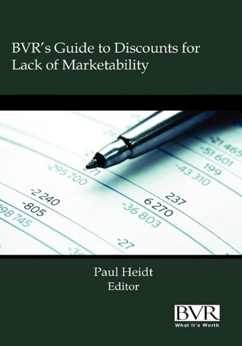 9781935081241: BVR's Guide to Discounts for Lack of Marketability - 2009 Edition
