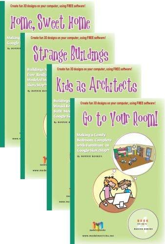 9781935135081: ModelMetricks Basics Series (For the PC): 4 Book Set of SketchUp Design Books for Kids