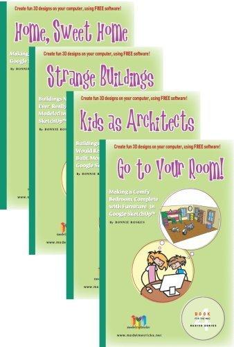9781935135098: ModelMetricks Basics Series (For the Mac): 4 Book Set of SketchUp Design Books for Kids
