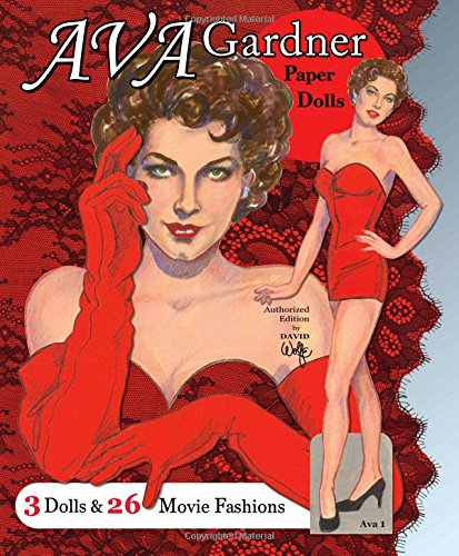 Ava Gardner Paper Dolls: 3 Dolls and 26 Movie Fashions