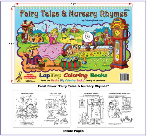 9781935266044: Fairy Tales and Nursery Rhymes Coloring Book (17x11)