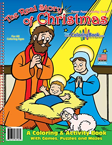 9781935266136: The Real Story of Christmas Coloring Book (8.5x11)