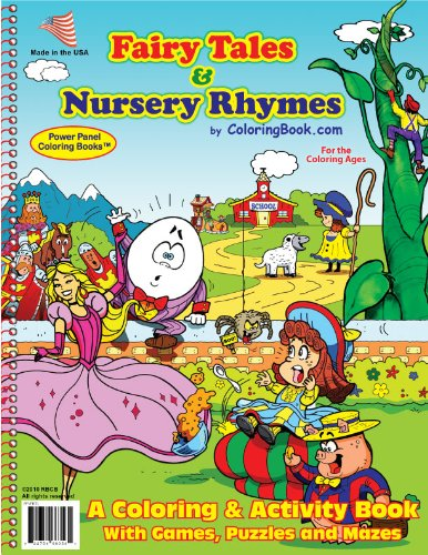9781935266358: Fairy Tales & Nursery Rhymes Coloring Book (8.5x11)