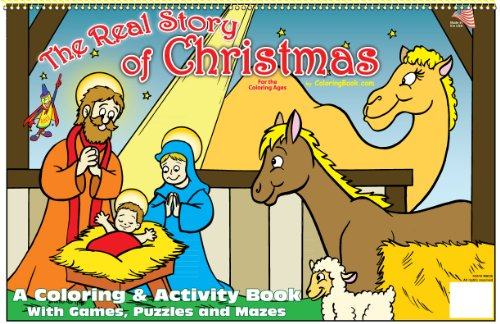 9781935266402: The Real Story of Christmas Coloring Book (17x11)