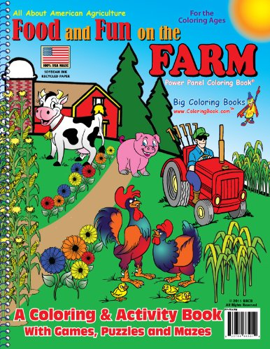 9781935266501: Food and Fun on the Farm Coloring Book (8.5x11)