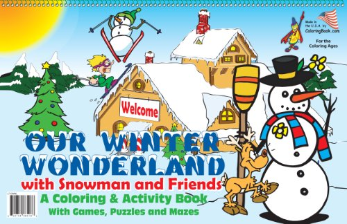 9781935266518: Our Winter Wonderland Coloring Book (17x11)