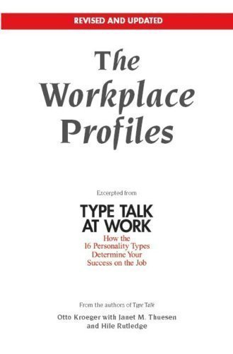 9781935321057: The Workplace Profiles: Excerpted from Type Talk at Work